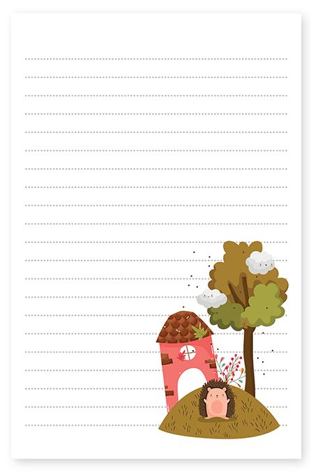 Fall Farm Hedgehog Stationery