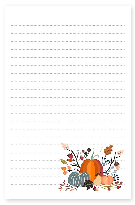 Fall Harvest Pumpkin Stationery
