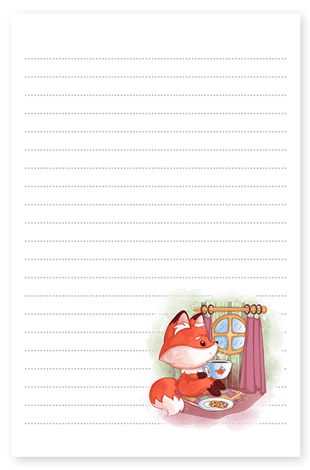 fox tea biscuits stationery