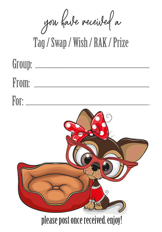 Chihuahua Tag Inserts SWAPS Tags Prizes Wish RAK