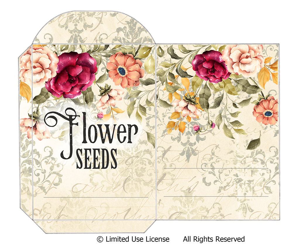 This is a picture of Free Printable Seed Packets throughout word microsoft