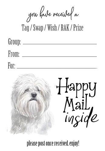 Lhaso Apso Tag Inserts