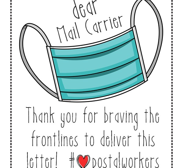 Thank you mail carriers postal workers stickers