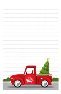 Red Truck Christmas Pen Pal Stationery