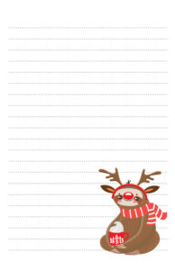 Christmas Sloth Pen Pal Stationery