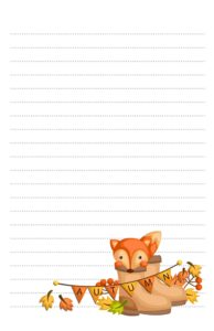Fox In Boots Woodland Animal Pen Pal Stationery