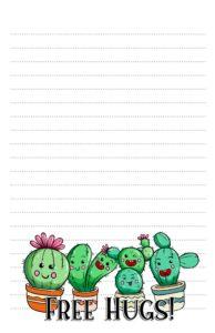 kawaii cactus pen pal stationery