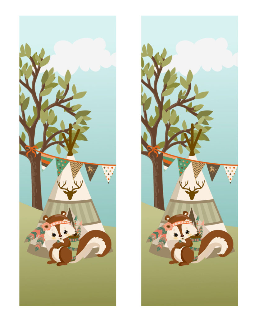 Tribal Woodland Animals Squirrel Bookmarks