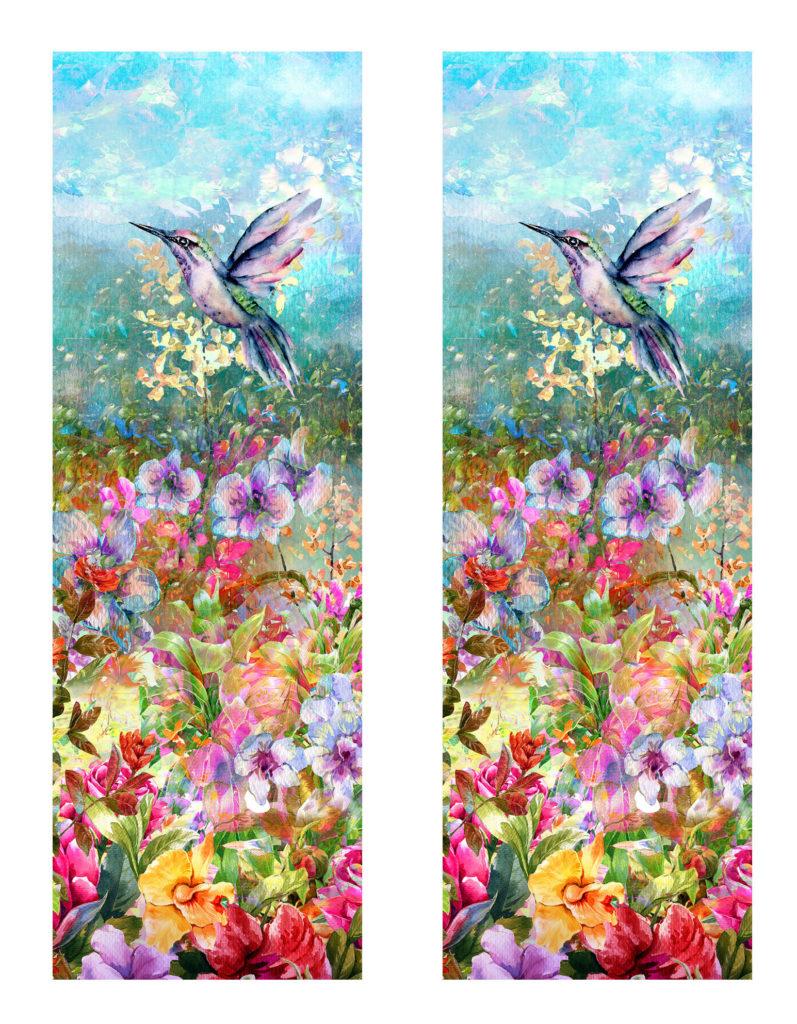 Wildflowers Hummingbird Shaker Bookmark Printable
