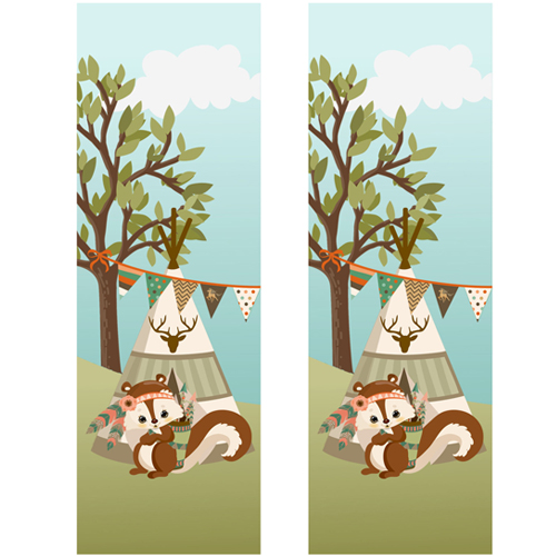 Tribal Squirrel Shaker Bookmark