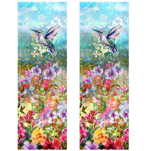Wildflowers & Hummingbird Shaker Bookmarks