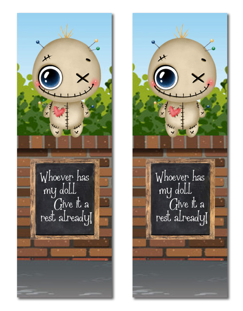 Voodoo Funny Printable Bookmarks