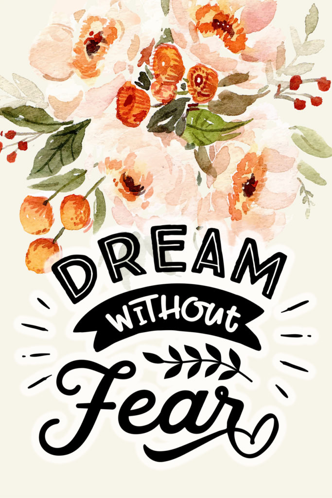Dream Without Fear Postcard