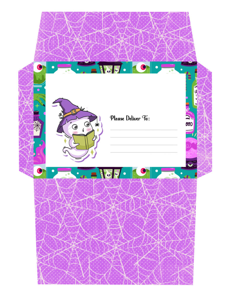 Printabe Halloween Envelope