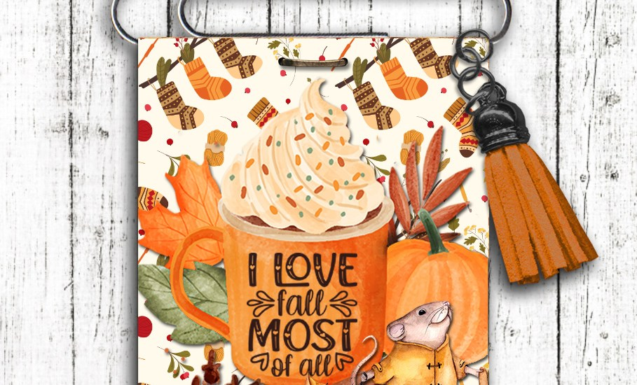 I love fall most of all autumn bookmark