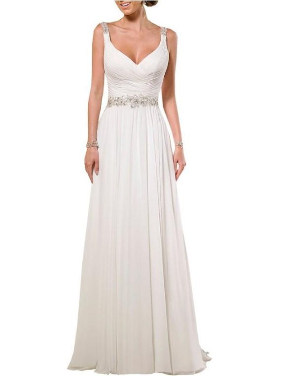 soft dress shoulder straps soft ruching chiffon wedding dress cute dresses
