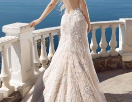Backless Beach Wedding Gown Lace Mermaid Bride Dress
