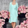 Sheath Column Knee-length Chiffon Mother of the Bride Dress