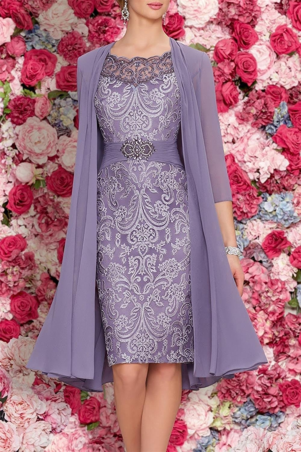 mother of the bride two pieces dresses