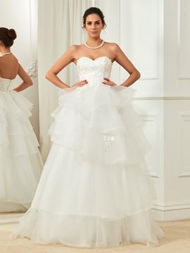 Amazing Sweetheart Ball Gown Wedding Dress