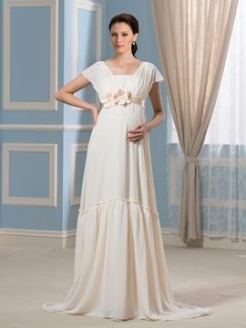 Beautiful Flowers Maternity Wedding Dress