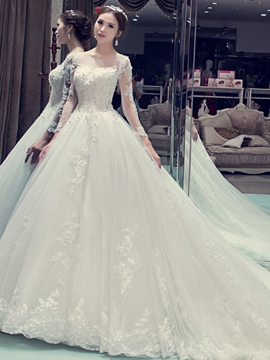 Beautiful Sweetheart Backless Wedding Dress With Sleeves