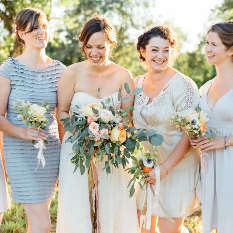Blush and Apricot Rustic Autumn Wedding