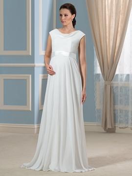 Casual Jewel A Line Maternity Wedding Dress