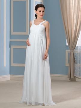 Casual Straps Maternity Wedding Dress