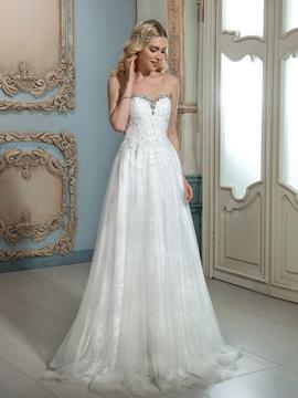 Charming Sweetheart Beaded A Line Wedding Dress