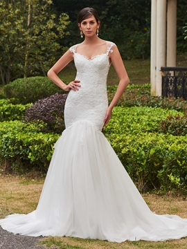 Classic Appliques Sweetheart Mermaid Wedding Dress