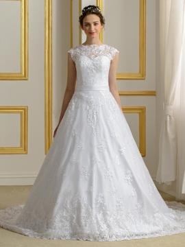 Elegant A Line Lace Wedding Dress