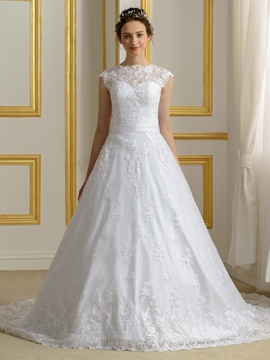 Elegant A Line Lace Wedding Dress