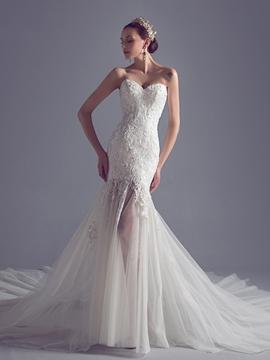 Exquisite Sweetheart Mermaid Wedding Dress