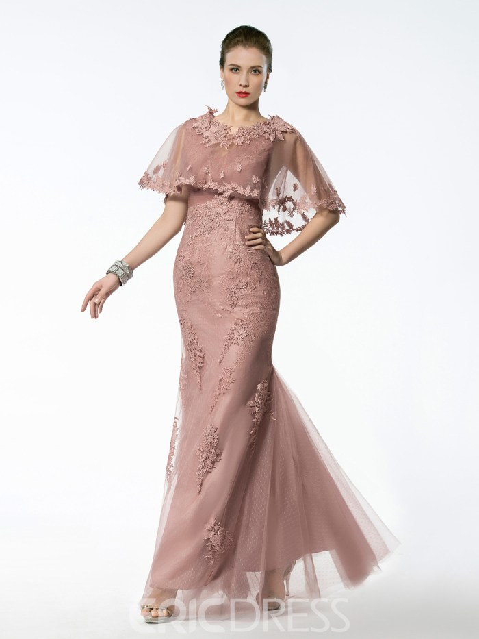 Fancy V Neck Appliques Mermaid Mother of the Bride Dress