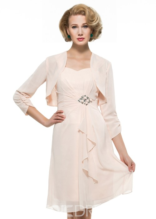 High Quality Chiffon Mother Of The Bride Dress With Jacket