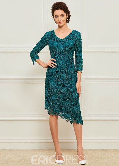 Lace Sheath Mother of the Bride Dress