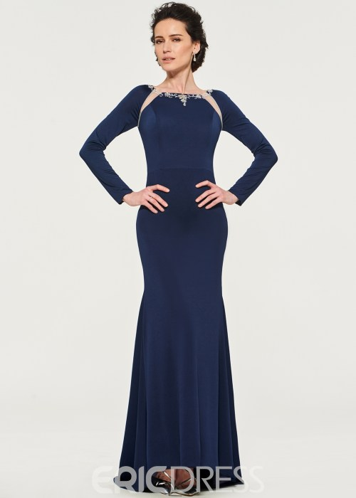 Long Sleeves Spandex Mother of the Bride Dress