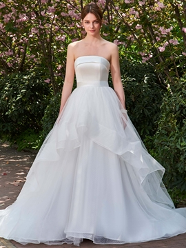 Strapless Ball Gown Bowknot Wedding Dress