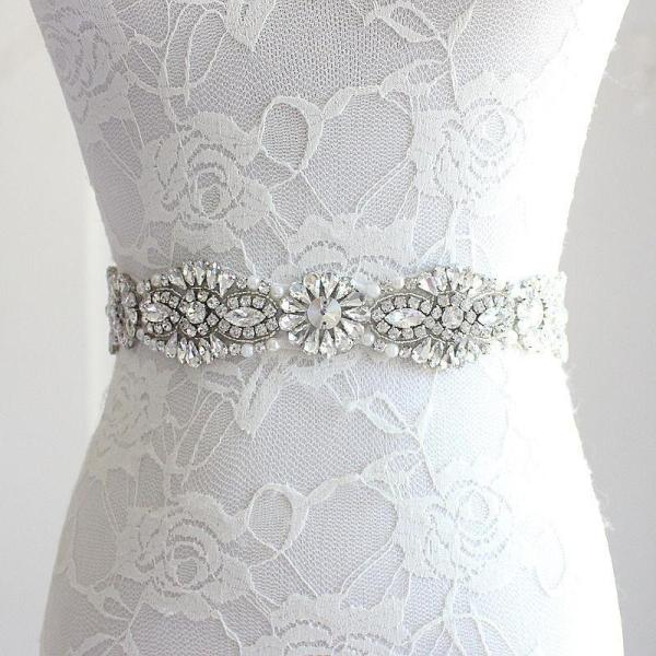 Wedding Belt Beaded Bridal Belt Crystal and Pearl Bridal Sash Prom Dress Waistband