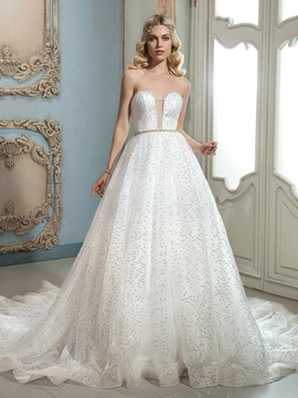 Beautiful Sweetheart A Line Wedding Dress