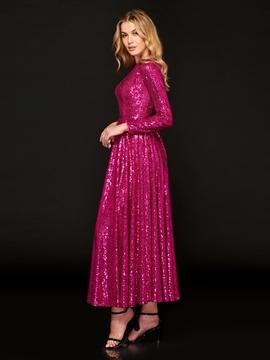 Cute A Line Long Sleeve Sequin Prom Dress
