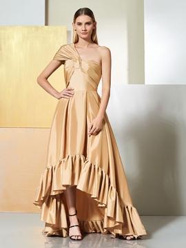 Cute A Line One Shoulder Asymmetry Evening Dress