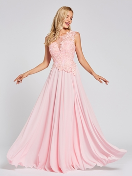 Cute Chiffon A Line Evening Dress