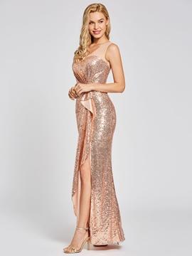 Cute Presale Scoop Neck Sequins Sheath Evening Dress