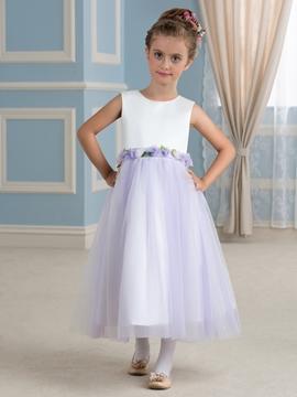 Beautiful A Line Sleeveless Tulle Flower Girl Dress