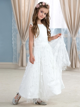 Beautiful Jewel A Line Lace Wedding Dress