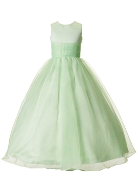 Beautiful Jewel Ball Gown Cheap Flower Girl Dress