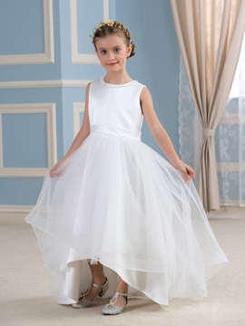 Beautiful Lace A line Flower Girl Dress