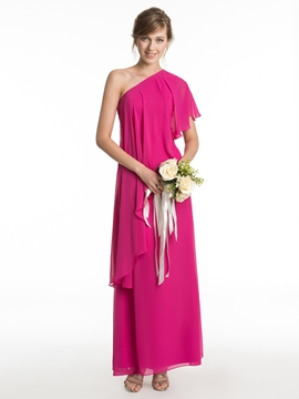 Beautiful One Shoulder A Line Bridesmaid Dress